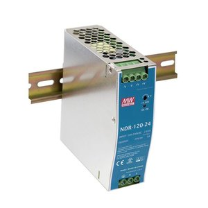 Meanwell Voeding  NDR 120-12 -  12V/DC - 10A