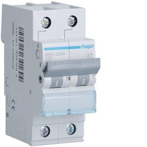 Hager  Automaat 3kA - C - 2P - 20A - 2M  - MWN220A