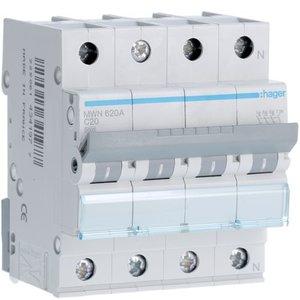 Hager  Automaat 3kA - C - 3P+N - 20A - 4M  - MWN620A