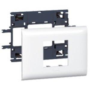 Legrand DLP (85mm) houder en afdekplaat wit, 2 modules