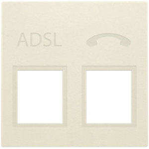 Niko Centraalplaat voor ADSL/VDSL splitter, Crème - 100-69091