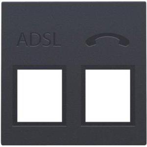 Niko Centraalplaat voor ADSL/VDSL splitter - Antraciet- 122-69091