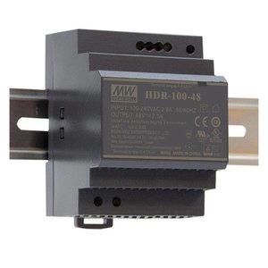 Meanwell Voeding Ultra slim DIN rail 220V/12VDC 7.1A 100W - HDR-100-12
