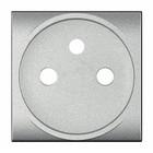 Bticino Sierplaatje voor stopcontact Zilver  LivingLight- NT4942
