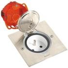 Legrand Vloerstopcontact Kit inox vierkant