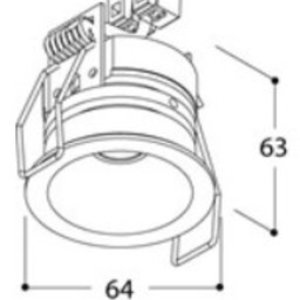 TAL Lighting Helax SML IP54 Torsion Inbouwdownlight 3.82W 2700K Zwart