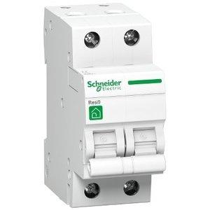 Schneider Automaat 2P - 4A - 3kA - curve C - R9F64204