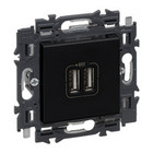 Legrand Valena Next 2 x USB Lader type A SetZwart  - 741734