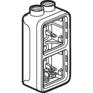 Legrand Plexo 2 verticale opbouwdoos 3 ingangen M20 - 2xboven en 1x onder