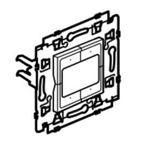 Legrand Valena Next 4 compacte drukknoppen Set Zwart klauwen - 741753