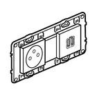 Legrand Valena Next Stopcontact 2P+A+dubbele USB vlak Set Alu- 741635