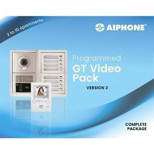 Aiphone Kit 4 app. met modulaire buitenpost, IP interface, voeding & videobusmodule - GTBV4F