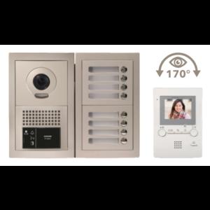 Aiphone Kit met modulaire buitenpost, IP interface, voeding & videobusmodule - GTBV8F