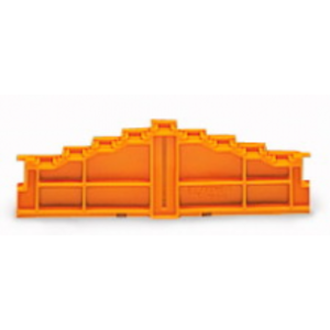 Wago Lage 4 etage-afsluitplaat zonder opdruk 7,62 mm dik, oranje 727-217