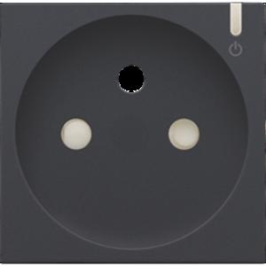 Niko Afwerking geconnecteerd stopcontact Antraciet -122-66630