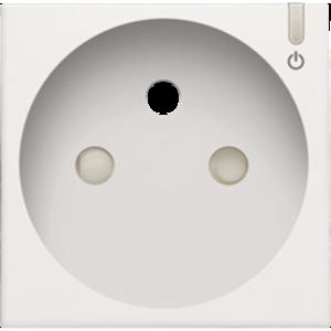 Niko Afwerking geconnecteerd stopcontact  white coated