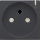 Niko Afwerking voor geconnecteerd  stopcontact black coated