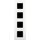 Niko Afdekplaat, doorzichtig tekstveld,  4-voudig verticaal,  wit