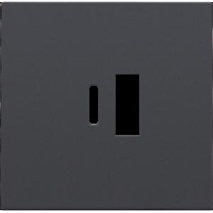Niko Afwerkingsset  smart USB-A en USB-C-lader, Antraciet  - 122-68002