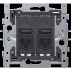Niko 2X RJ45-aansluitingen UTP cat. 6A - 170-65172
