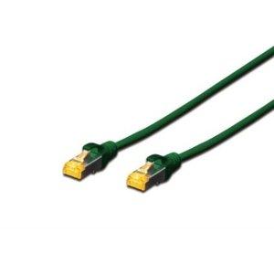 CAT 6A S-FTP Patchkabel, LSOH, Cu, AWG 26/7, lengte 0.25m, groen