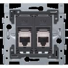 Niko 2X RJ45 STP CAT6A, Vlak - 170-65179