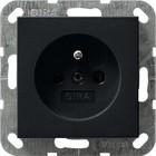 Gira Stopcontact aardingspen kinderbeveiliging  - Zwart Mat