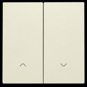 Niko Dubbele elektronische rolluikschakelaar, cream - 100-31006