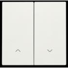 Niko Dubbele elektronische rolluikschakelaar, Wit 101-31006