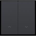 Niko Dubbele elektronische rolluikschakelaar, anthracite - 122-31006