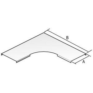 VERGOKAN Deksel voor horizontale bocht 90° H = 10 B = 81 - DB90.075