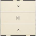 Niko Enkelvoudige audiobediening  Niko Home Control, cream - 100-52073