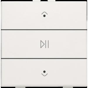 Niko Enkelvoudige audiobediening  Niko Home Control,Wit - 101-52073