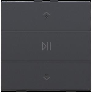Niko Enkelvoudige audiobediening  Niko Home Control Antraciet- 122-52073