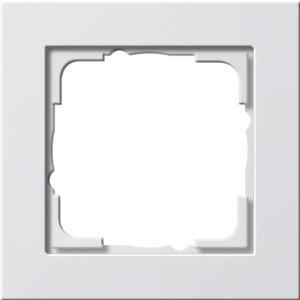 Gira  Afdekraam 1-voudig E2 Basic  Wit mat - 021122