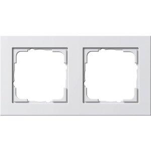 Gira Afdekraam 2-voudig E2 Basic  Wit mat - 021222