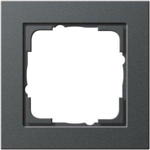 Gira Afdekraam 1-voudig E2 Basic Antraciet - 021123