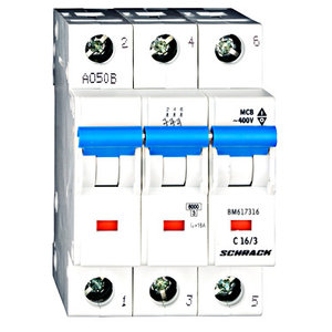 Schrack Beveiligingsautomaat 3P 16A 6kA Curve C