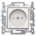 Niko Stopcontact met spanningsaanduiding,  afwerkingsset white  28,5mm - 101-66617