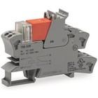 Wago Relaisvoet met relais en statusmelder, 1 wisselcontact, AC 230 V, grijs