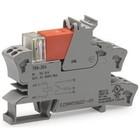 Wago Relaisvoet met relais en statusmelder, 1 wisselcontact, DC 24 V, grijs