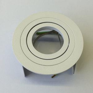Schrack inbouwspot Wit 50W richtbaar Beton bladveren