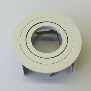 Schrack inbouwspot Wit Alu,50W richtbaar