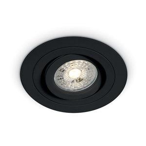 Set inbouwspot + LED Spot Zwart  Dim - Richtbaar 50W
