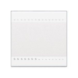 Bticino LivingLight - Verlichtbare toets 1 functie 2 module Zilver