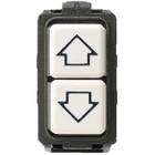 Bticino Dubbele drukknop Magic - met pijltjes - enkelpolig NO + NO - 5055/1