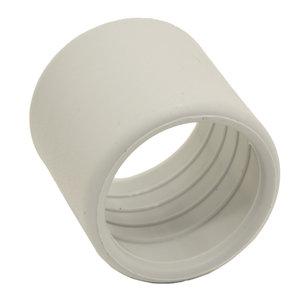 PVC eindtul 25mm licht grijs 10 st