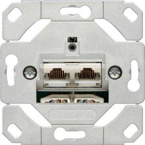 Gira 2 x UTP cat 6  sokkel Systeem 55 - 245200