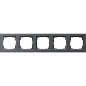 Gira Afdekraam 5-voudig E2 Basic  Antraciet - 021523