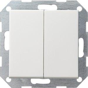 Gira Dubbele Serieschakelaar Systeem 55 Wit mat - 012527